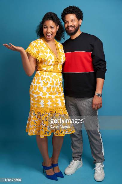 Jazz Smollett and Jake Smollett of TV One's 'Living By Design With Jake and Jazz' pose for a portrait during the 2019 Winter TCA at The Langham...