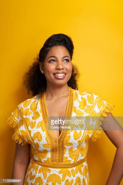 Jazz Smollett of TV One's 'Living By Design With Jake and Jazz' pose for a portrait during the 2019 Winter TCA at The Langham Huntington Pasadena on...