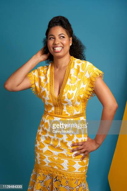 Jazz Smollett of TV One's 'Living By Design With Jake and Jazz' poses for a portrait during the 2019 Winter TCA at The Langham Huntington Pasadena on...