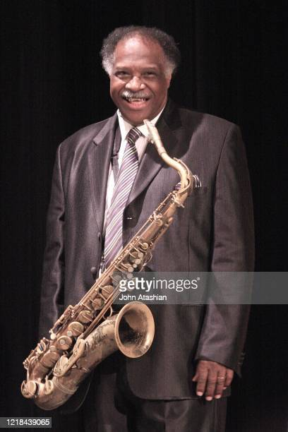 """Jazz tenor saxophonist and record producer Houston Person is shown performing on stage during a """"live"""" concert appearance on April 13, 2008."""
