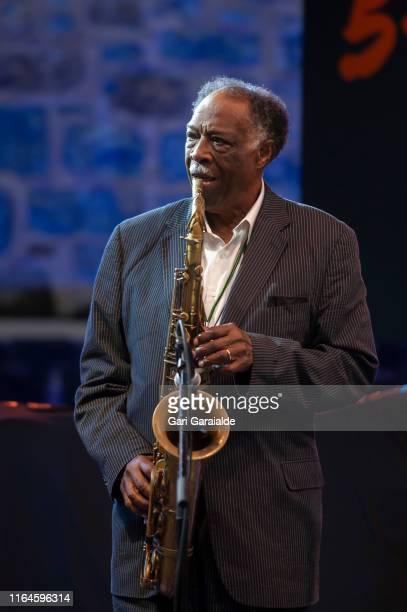 Jazz tenor saxophonist Houston Persons perform onstage during 54th edition of Heineken Jazzaldia Festival on July 27, 2019 in San Sebastian, Spain.