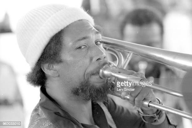 Jazz trombonist composer and arranger Phil Ranelin performs in Detroit in 1976