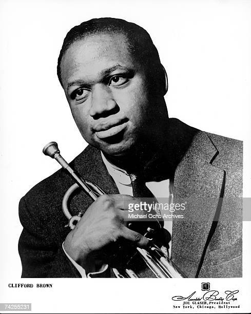 Jazz trumpeter Clifford Brown Poses for a portrait circa 1953
