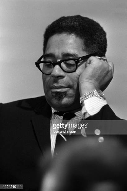 Jazz trumpeter Dizzy Gillespie poses for a portrait circa 1965 in St. Louis, Missouri.