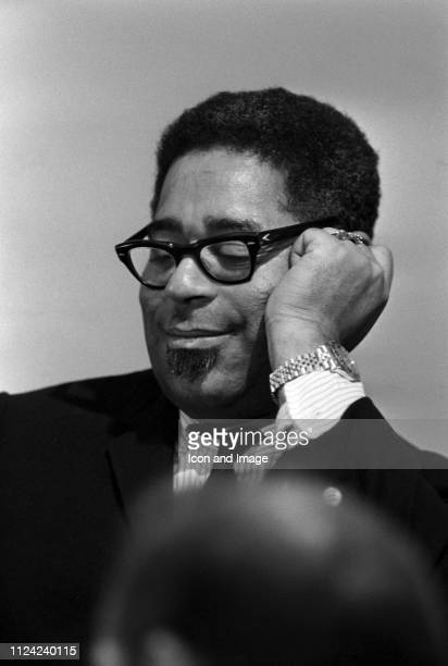 Jazz trumpeter Dizzy Gillespie poses for a portrait circa 1965 in St Louis Missouri