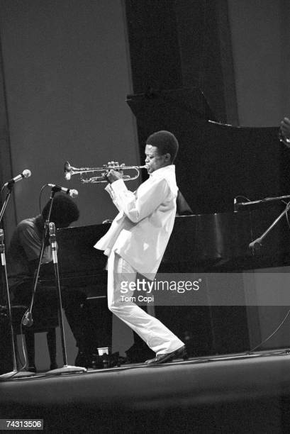 Jazz trumpeter Hugh Masekela performs onstage in 1968
