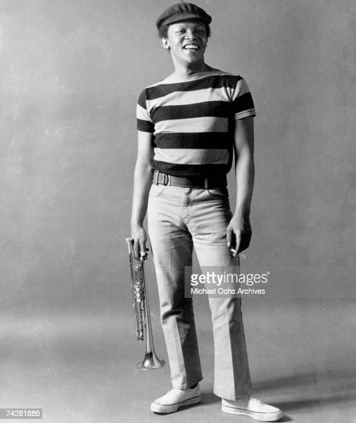 Jazz trumpeter Hugh Masekela poses for a portrait in circa 1966 in New York City New York
