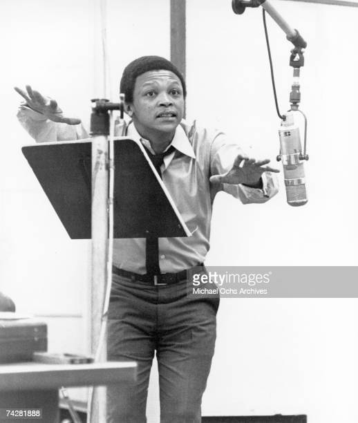 Jazz trumpeter Hugh Masekela records in the studio in circa 1966 in New York City New York