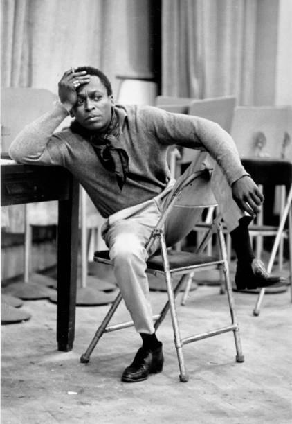 Jazz trumpeter Miles Davis records at 30th Street Studios...