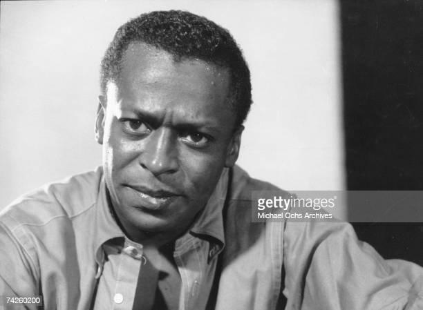 Jazz trumpeter Miles Davis records at 30th Street Studios in circa 1959 in New York City New York