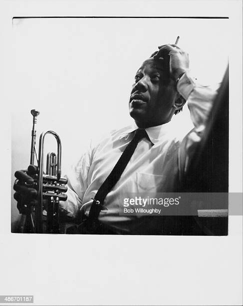 Jazz trumpeter Ray Nance, backstage at the Shrine Auditorium, Los Angeles, 1950.