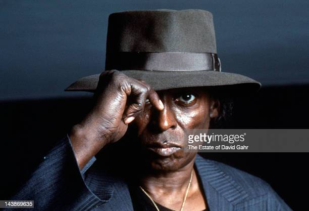 Jazz trumpter Miles Davis poses for a portrait at home on April 15 1984 in New York City New York