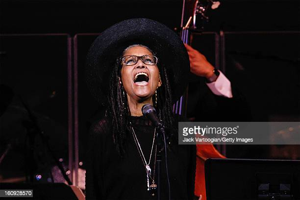 Jazz vocalist Abbey Lincoln performs at a JVC Festival concert at Carnegie Hall New York New York June 20 2004