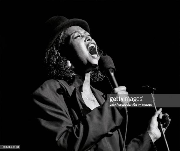 Jazz vocalist Abbey Lincoln performs at the Jazz at Lincoln Center 'Two Divas of Jazz' concert at Alice Tully Hall Lincoln Center New York New York...