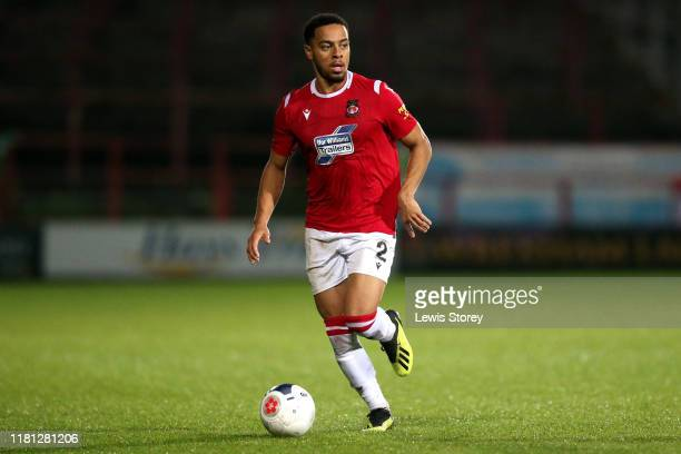 Jazzi BarnumBobb on the ball during the Vanarama National League match between Wrexham and Chesterfield at the Racecourse Ground on October 15 2019...