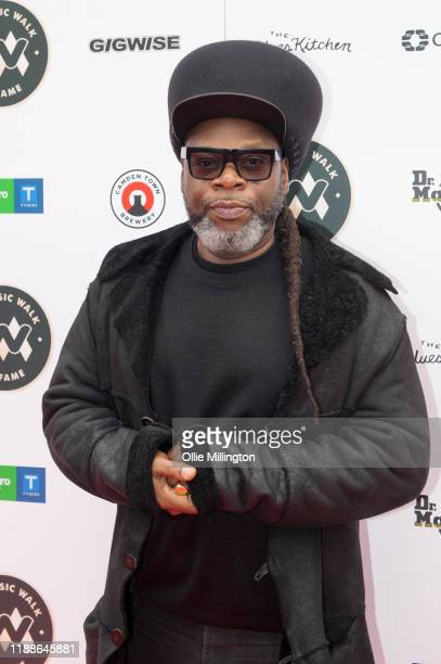 Jazzie B attends the Music Walk Of Fame for The Who's Founding Stone Unveiling on Camden High Street on November 19 2019 in London England
