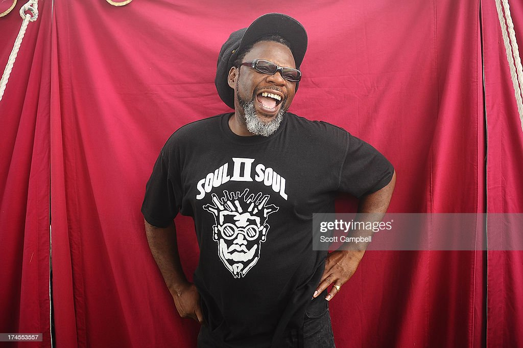 Jazzie B of Soul II Soul poses for portraits on Day 2 of Rewind 80s Festival 2013 at Scone Palace on July 27, 2013 in Perth, Scotland.
