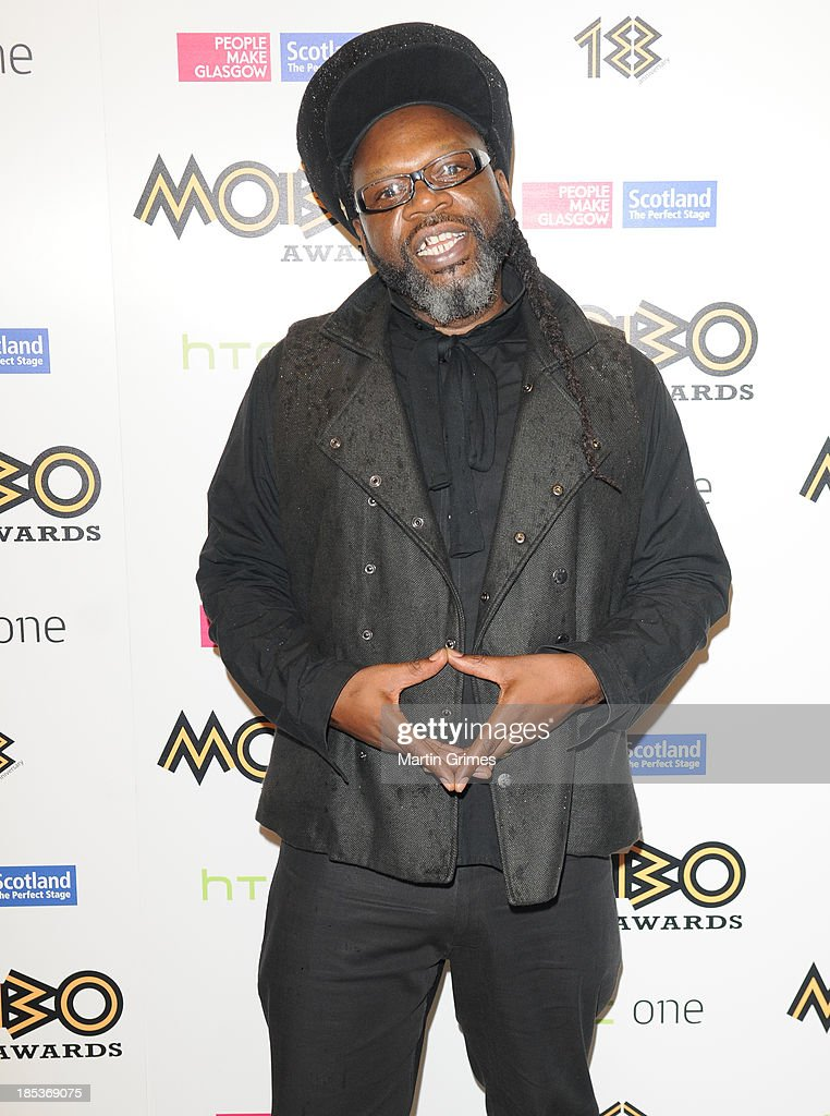 Jazzie B poses at the 18th anniversary MOBO Awards at The Hydro on October 19, 2013 in Glasgow, Scotland.