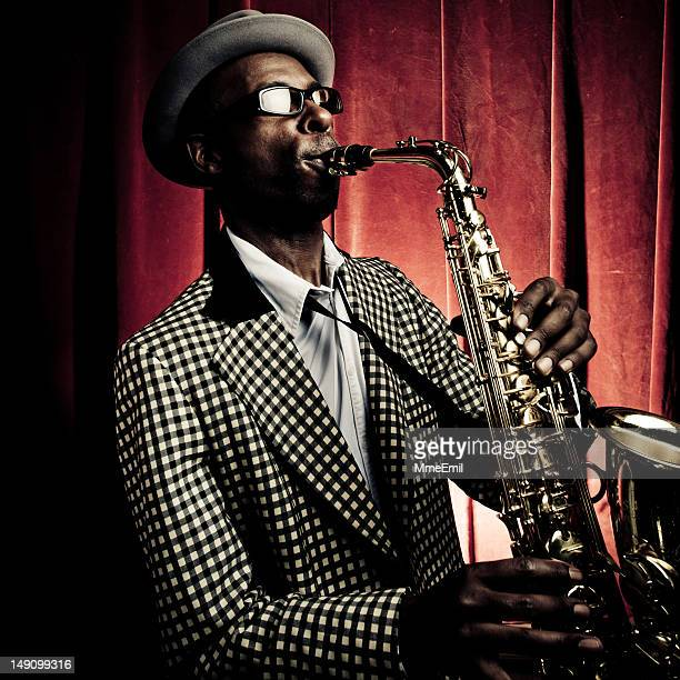 jazzman - cabaret stock pictures, royalty-free photos & images