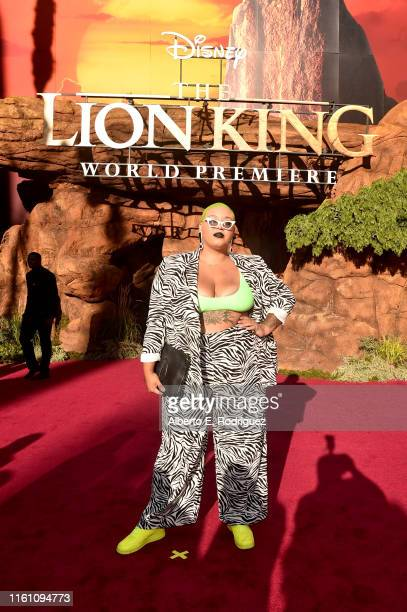 Jazzmyne Robbins attends the World Premiere of Disney's THE LION KING at the Dolby Theatre on July 09 2019 in Hollywood California