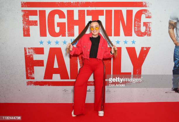 Jazzy attends the Sydney premiere screening of Fighting With My Family at Event Cinemas George Street on February 27 2019 in Sydney Australia