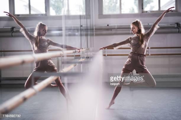 jazzy ballerina in ballet studio. - ballet dancing stock pictures, royalty-free photos & images