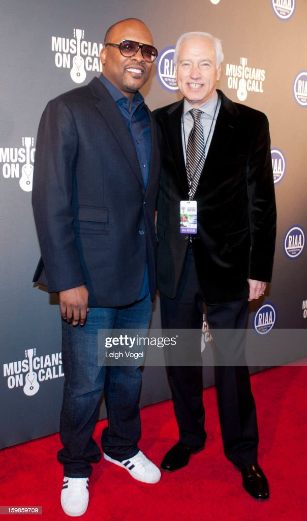 DJ Jazzy Jeff and Cary Sherman attend the RIAA Presidential Inaugural Charity Benefit at the 9:30 Club on January 21, 2013 in Washington, United States.