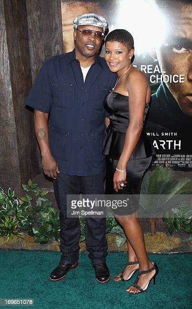 Jazzy Jeff and Lynette Jackson attend the 'After Earth' premiere at the Ziegfeld Theater on May 29 2013 in New York City