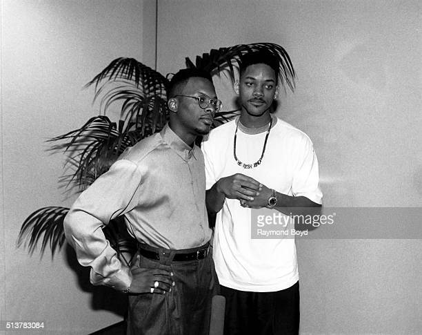 Rappers DJ Jazzy Jeff and The Fresh Prince poses for photos at the Hyatt Regency Chicago in Chicago Illinois in 1989