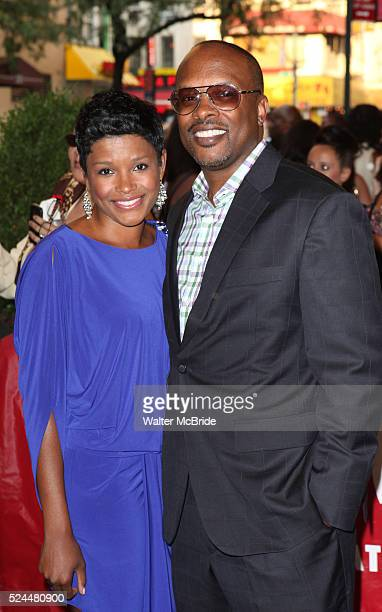 DJ Jazzy Jeff wife Lynette Townes attending the opening night of the Broadway limited engagement of 'Fela' at the Al Hirschfeld Theatre on July 12...