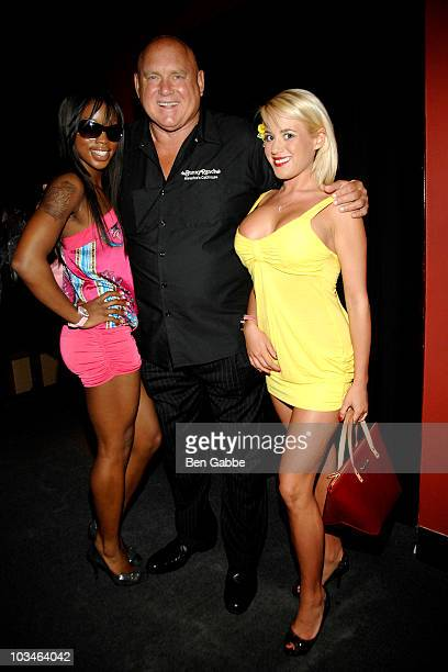 Jazzy Jones Dennis Hof and Cami Parker attends New York's Funniest Reporter Show at Gotham Comedy Club on August 19 2010 in New York City