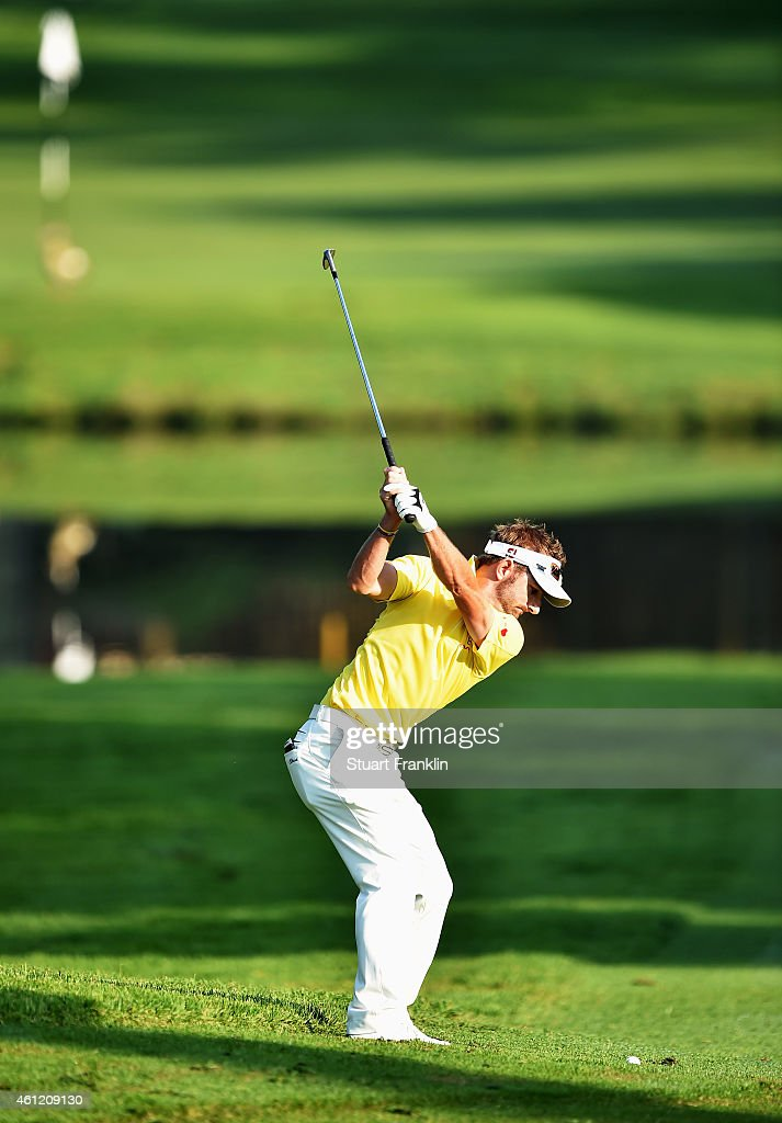 Jbe Kruger of South Africa plays a shot during the second round of the South African Open at Glendower Golf Club on January 9, 2015 in Johannesburg, South Africa.