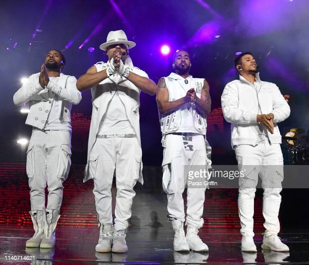 JBoog RazB Omarion and Lil' Fizz of B2K perform onstage during their The Millennium Tour at State Farm Arena on April 05 2019 in Atlanta Georgia