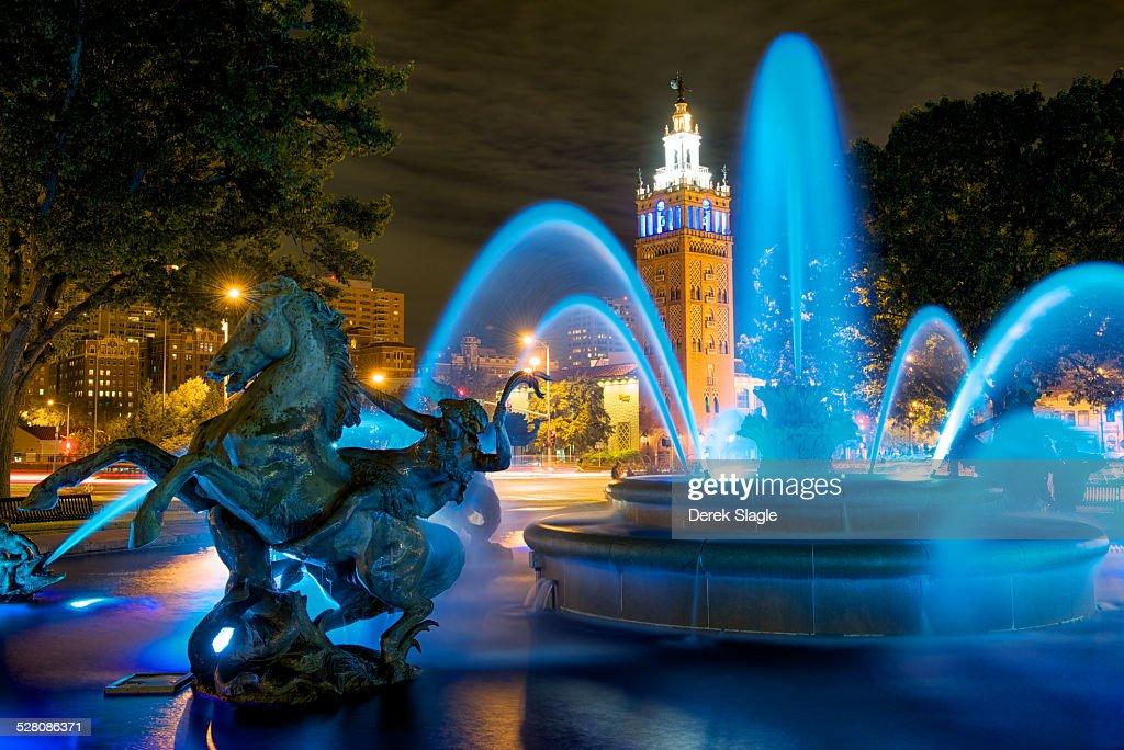 Jc Nichols Fountain - Royal Blue : Stock Photo