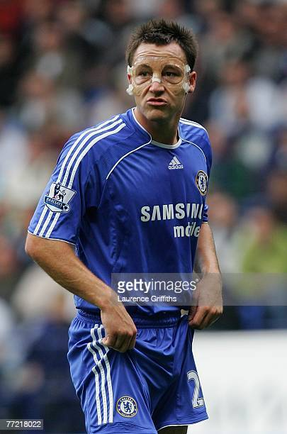 JCaptain John Terry of Chelsea in action wearing a protective face mask during the Barclays Premier League match between Bolton Wanderers and Chelsea...