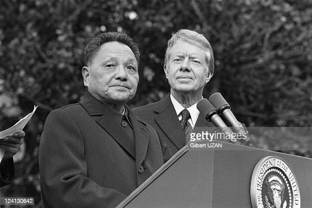 Carter and Deng Xiaoping in Washington, United States in November, 1979.