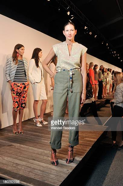 Crew Creative Director Jenna Lyons attends the JCrew presentation during Spring 2014 MercedesBenz Fashion Week at The Studio at Lincoln Center on...