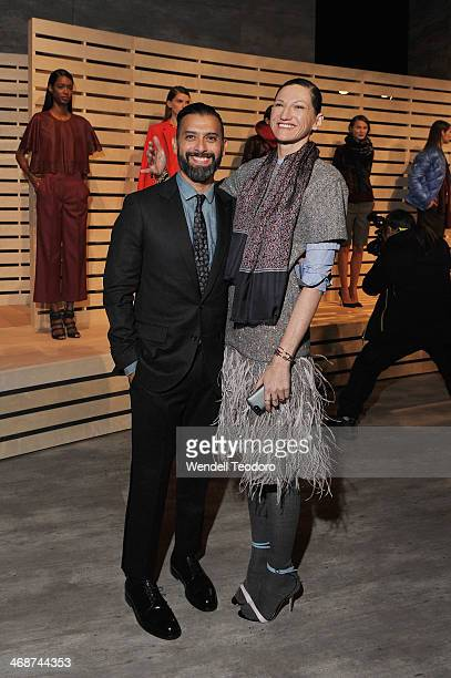 JCrew creative director Jenna Lyons attends the JCrew presentation during MercedesBenz Fashion Week Fall 2014 at The Pavilion at Lincoln Center on...