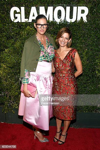 Crew President and Creative Director Jenna Lyons and Glamour EditorinChief Cindi Leive attend Glamour Women Of The Year 2016 at NeueHouse Hollywood...