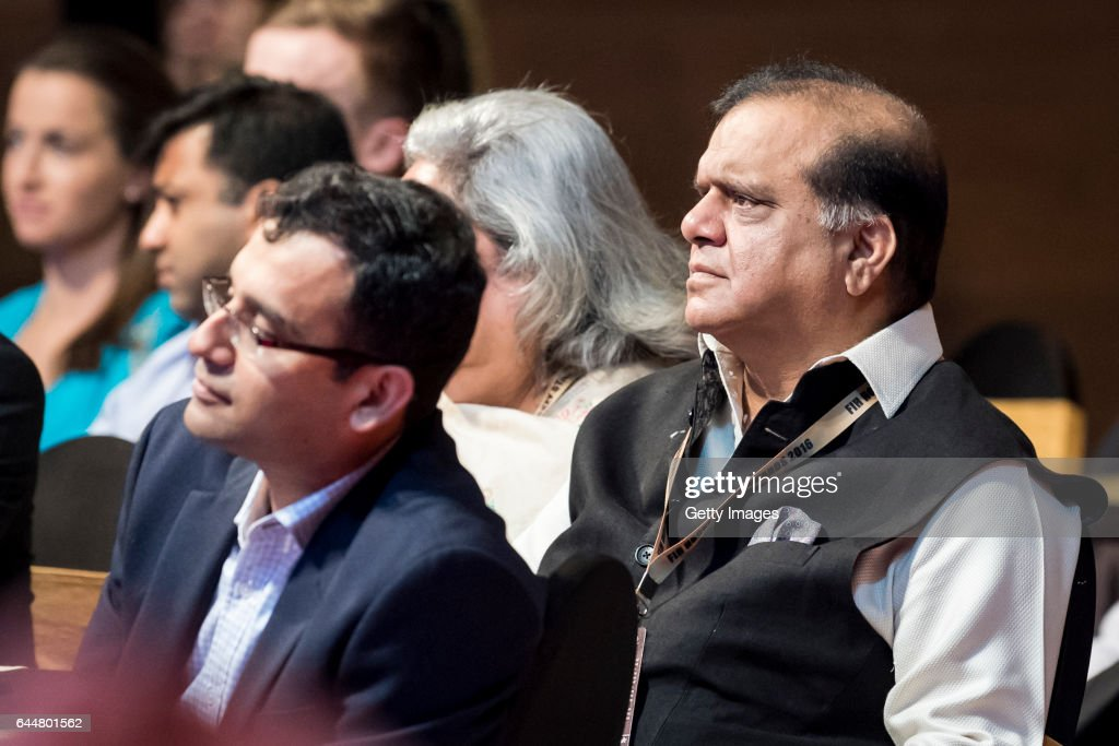 JDr Narinder Dhruv Batra President of The International Hockey Federation seen during the FIH Hockey Stars Awards 2016 at Lalit Hotel on February 23..