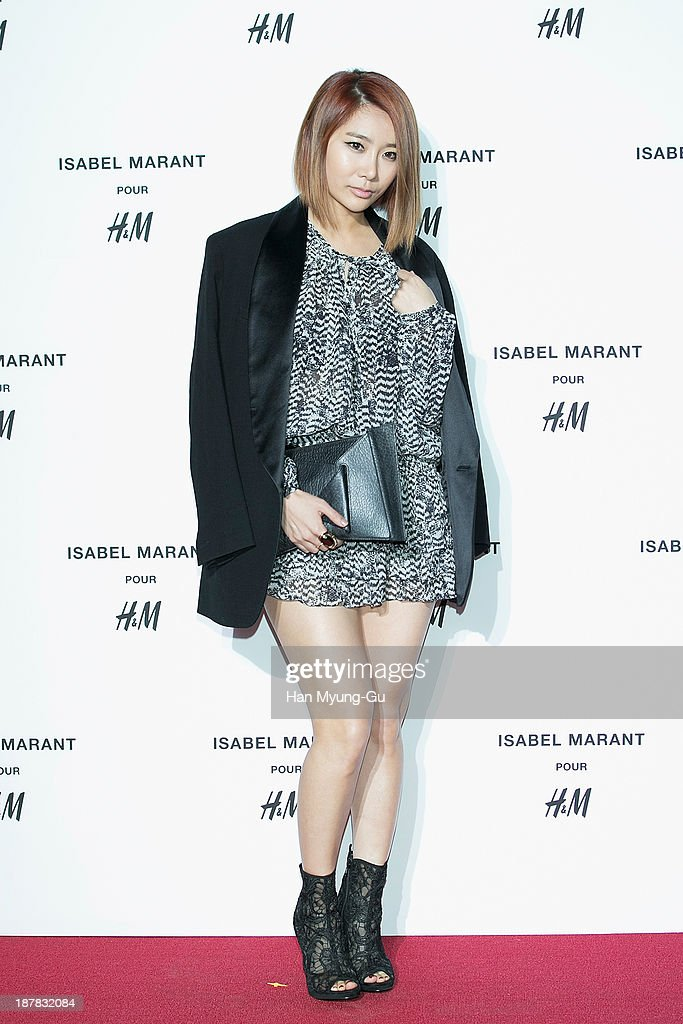 Jea of girl group Brown Eyed Girls attends Isabel Marant Pour H&M pre-shopping and party at Noon Square H&M Store on November 12, 2013 in Seoul, South Korea.