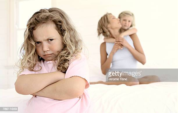 Jealous girl with family