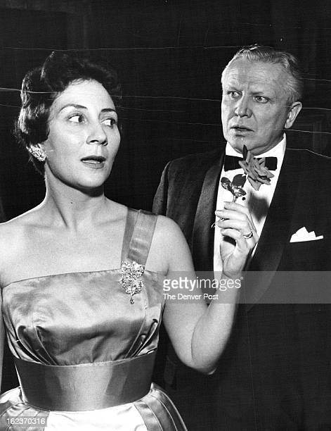 FEB 6 1960 FEB 17 1960 Jealous Suitor Francis S VanDerbur as the dapper Philip Clair in the Civic Theater's Kind Sir displays jealousy as Maxine Long...