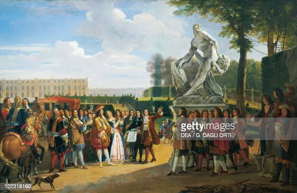 Jean Alaux Cardinal Richelieu Introduces Poussin to Louis XIII in 1640