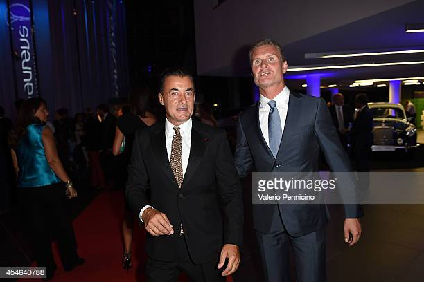 Jean Alesi and David Coulthard attends during the Laureus Charity F1 Night at the MercedesBenz Spa on September 4 2014 in Milan Italy
