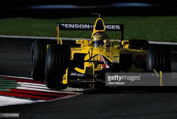 Jean Alesi drives the Benson and Hedges Jordan Racing Jordan EJ11 Honda RA001E V10 during the Italian Grand Prix on 16th September 2001 at the...