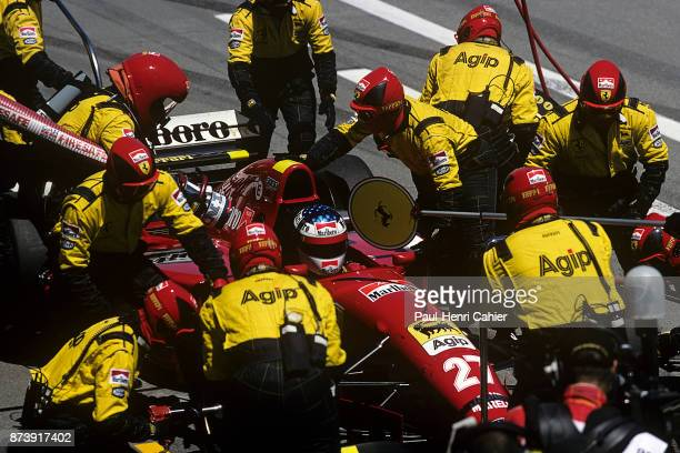 Jean Alesi, Ferrari 412T2, Grand Prix of Spain, Circuit de Barcelona-Catalunya, 14 May 1995.