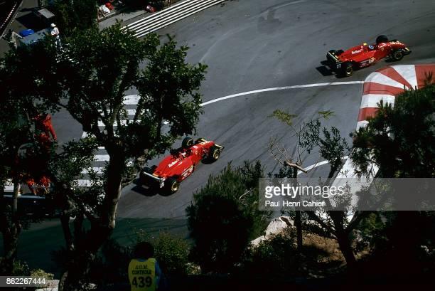 Jean Alesi Gerhard Berger Ferrari 412T2 Grand Prix of Monaco Circuit de Monaco 28 May 1995 Jean Alesi and Gerhard Berger racing their Ferrari 412T2...