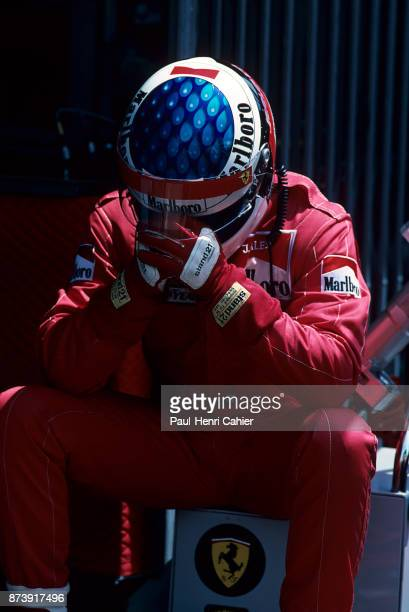 Jean Alesi Grand Prix of Monaco Circuit de Monaco 28 May 1995 Jean Alesi in full concentration before going out for qualifying in the 1995 Monaco...