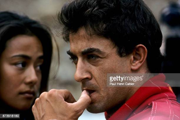 Jean Alesi, Kumiko Alesi, Grand Prix of Belgium, Circuit de Spa-Francorchamps, 27 August 1995. Jean Alesi and then fiancée Kumiko Goto, who would...